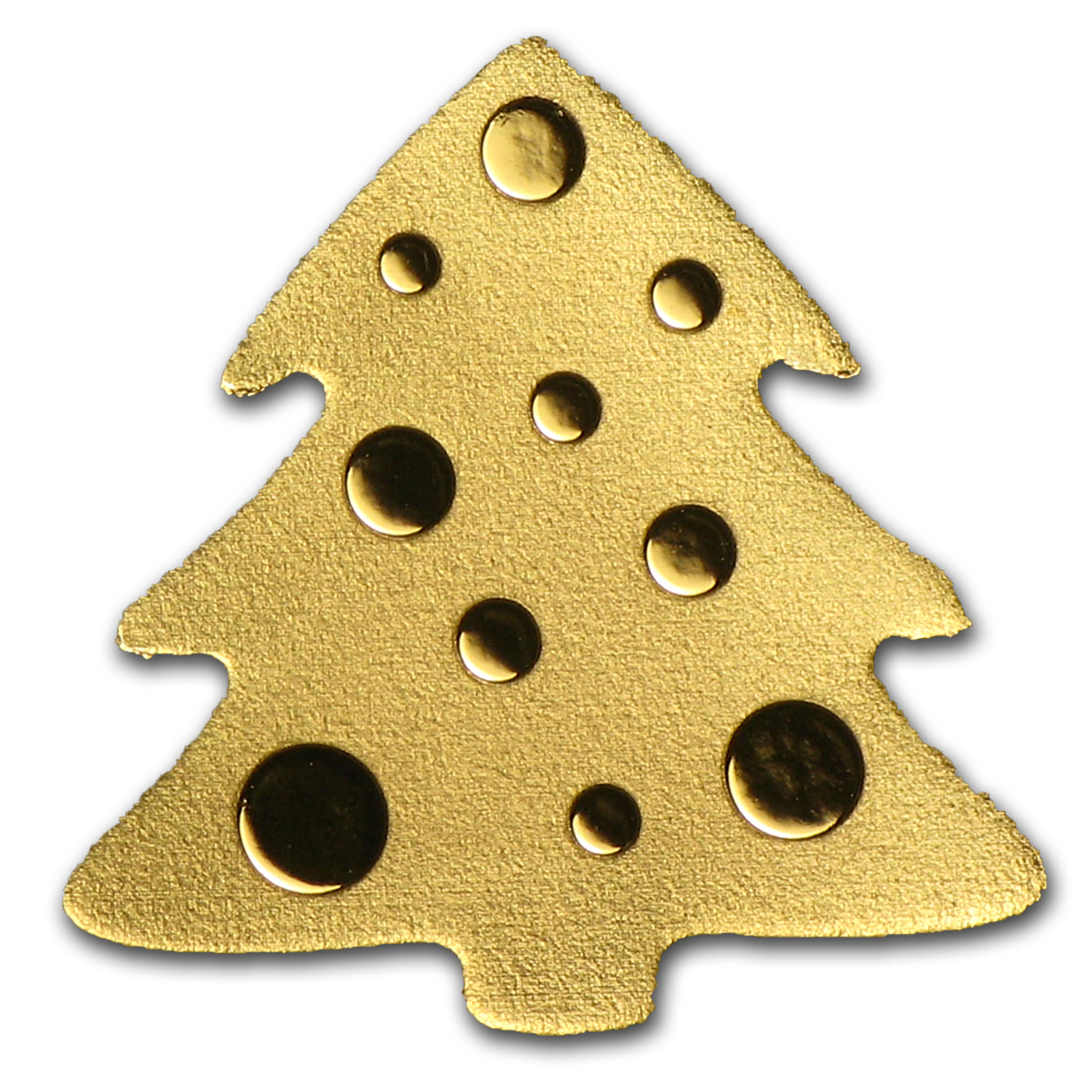 Palau Gold 1/2 gram $1 Golden Christmas Tree Coin
